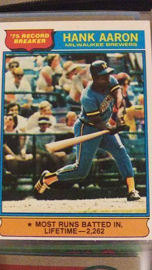 1975 Topps Baseball(2 Nolan Ryans,Hank Aaron Awesome Card) for Sale in Phoenix, AZ