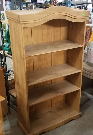 Very Nice Four Tier Solid Pine Bookshelf - Delivery Available for Sale in Tacoma, WA