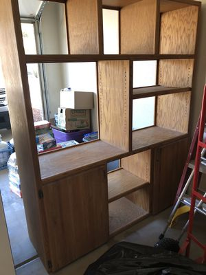 Wall unit- bookshelves- entertainment center for Sale in Phoenix, AZ