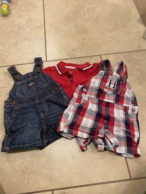 Baby boy Tommy Hilfiger and Oshkosh bib overall outfits for Sale in Goodyear, AZ