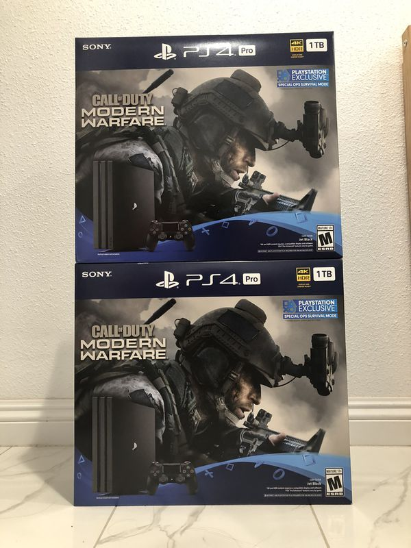 PS4 Pro Call of Duty Modern Warfare bundle
