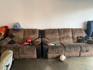Two couches need to wash for Sale in Modesto, CA