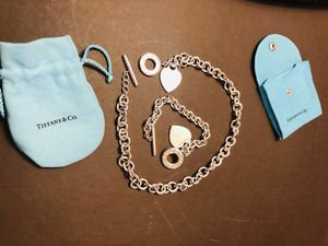 Tiffany and Co. heart toggle necklace and bracelet set 100% authentic for Sale in McLean, VA