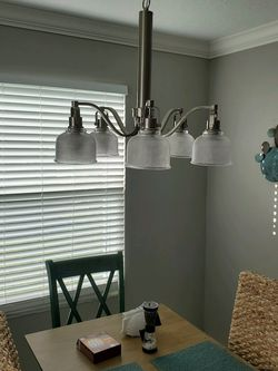 5 Light Brushed Nickel Chandelier for Sale in Clermont,  FL