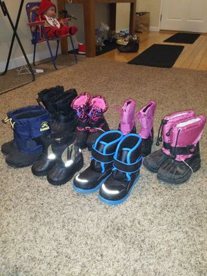Snow boots for small kids 10.00 a pair for Sale in Stockton, CA