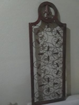 Zealous Stratton wall decor. Real wood. as is mbo Cash only $15.00 for Sale in Dallas, TX