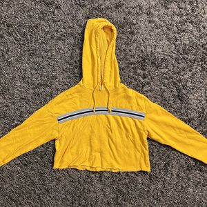 Forever 21 Crop Hoodie (Yellow) for Sale in Naugatuck, CT