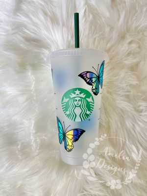 Personalized Butterfly 🦋 Starbucks Reusable Cold Cup for Sale in Riverside, CA