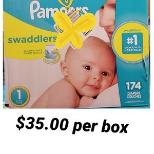Pampers Swaddlers Size 1 for Sale in Los Angeles, CA