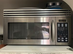 Microwave Metallic MAYTAG 30x16x16 with Vent for Sale in Brooklyn, NY