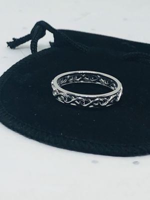 Sterling Silver Carved Bridal Band for Sale in Shelton, CT
