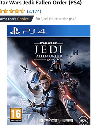 Ps4 Jedi fallen order for Sale in Rancho Cucamonga, CA