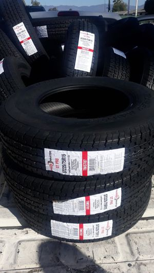 st225 75 r15 trailers tires 4pcs new $250 for Sale in Los Angeles, CA