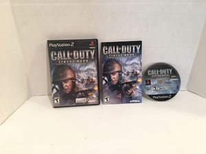 Playstation 2 ps2 Call Of Duty Finest Hour Game for Sale in San Bernardino, CA