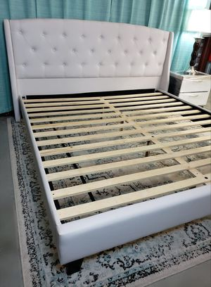 New king bed frame brand new mattress sold separately for Sale in West Palm Beach, FL