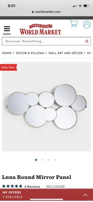 Round panel mirror - 2 available for Sale in Mission Viejo, CA