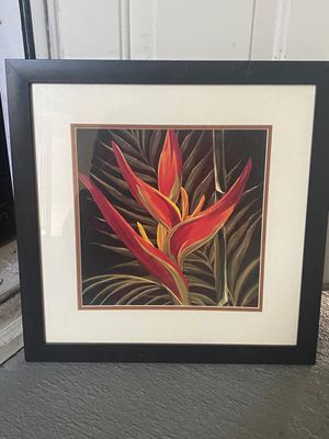 Wall frame flower 🌺 elegant painting for $15 for Sale in Duluth, GA