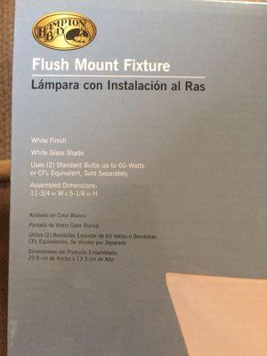 Flush mount fixture for lighting. Hampton Bay for Sale in Fairfax Station, VA