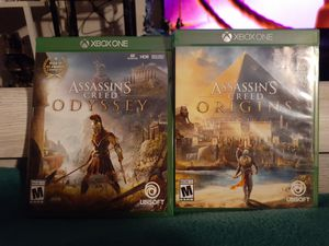 Assassin's creed odyssey and orgins for xbox one for sale or trade for Sale in Santee, CA