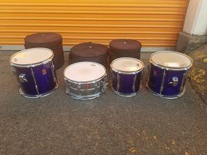 7 Piece 80s Vintage Premier Drum Set - Blue for Sale in Portland, OR