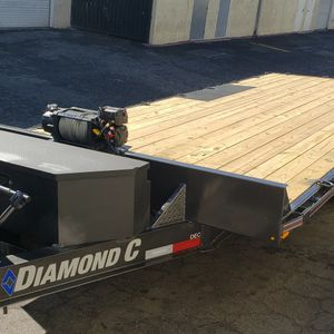 20ft Flatbed Cargo Trailer With Winch For Non Running Cars Or Materials for Sale in Las Vegas, NV