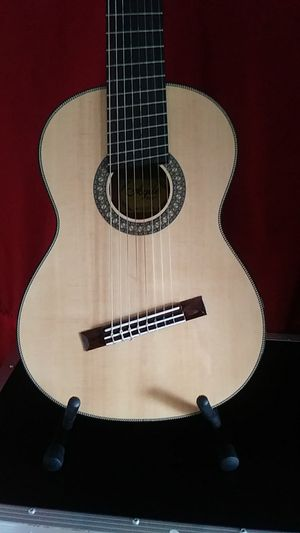 Agile Renaissance Classical 8 String Electric Acoustic Guitar #82527 EQ NA with hardshell case for Sale in Morrisville, PA
