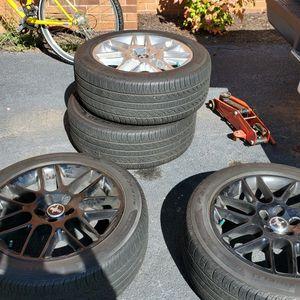 4 2013 Mustang Premium Rims With Pirelli All Season Tires. Some Tread Left. for Sale in Gainesville, VA