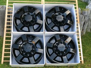 """18"""" GMC 2500 HD wheels rims new black for Sale in Westminster, CA"""