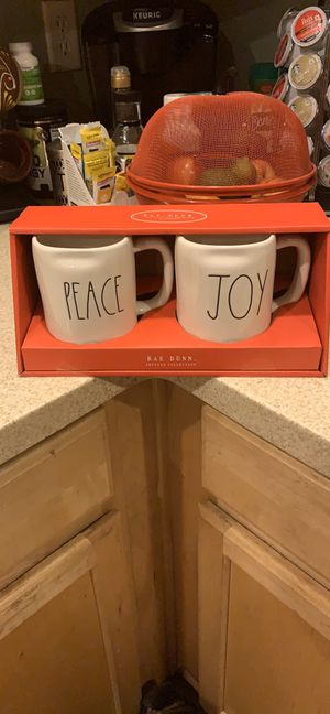 Rae Dun collectible mug set peace and joy for Sale in Las Vegas, NV