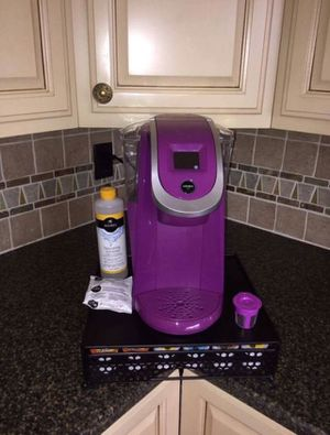 Keurig 2.0 K200 purple & accessories metal stand pod holder reusable for Sale in Allen Park, MI
