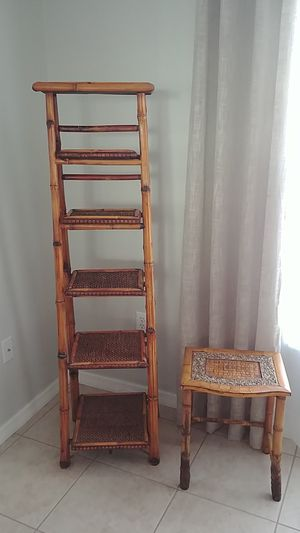 Ladder shelf and side table for Sale in Spring Hill, FL