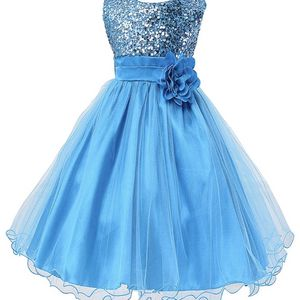 Girl Sequin Mesh Tull Dress Sleeveless Flower Party Ball Gown (Size 6-7) for Sale in Corona, CA