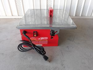 """Chicago Electric 7"""" tile saw with blade for Sale in Queen Creek, AZ"""