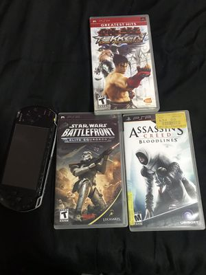 Broken psp and 3 psp games for Sale in Queens, NY