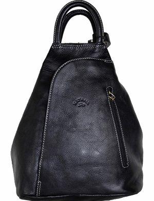 Original KATANA fine leather black Shoulder backpack /tote made in France for Sale in Las Vegas, NV