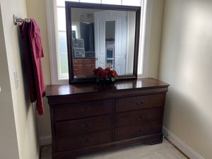 Solid cherry dresser with mirror for Sale in Evington, VA