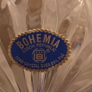 """New Vintage Bohemia Lead Crystal GIGA 12"""" Large pedestal bowl for Sale in Beverly Hills, CA"""