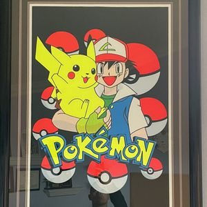 Giant Pikachu and Ash Framed Artwork for Sale in Trabuco Canyon, CA