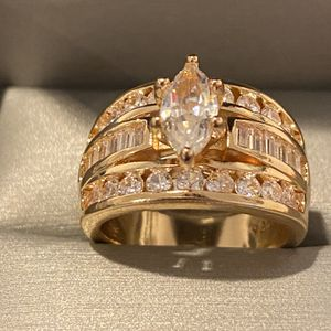 18K Gold plated Ring- Luxurious-Shiny ring- Code BUH10 for Sale in Dallas, TX