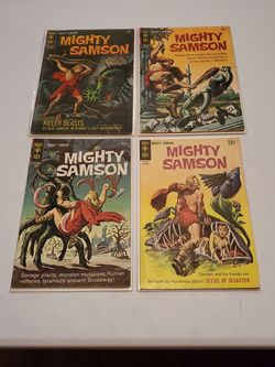 Mighty Samson #7, 9, 11, And 17, Gold Key Comics 1966-69, Silver Age Post Apocalypse Monster Horror Lot Of 4, Rare for Sale in Fresno,  CA