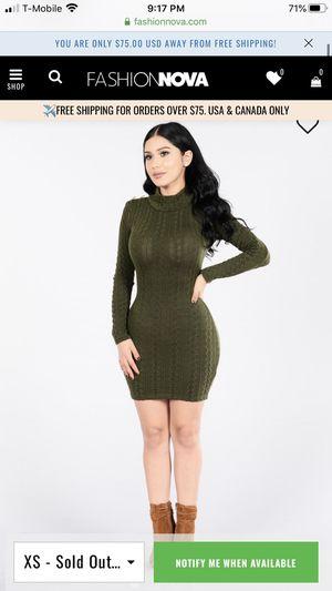 Fashion nova olive turtleneck dress for Sale in Antioch, CA