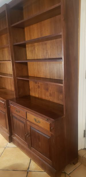 Qualiry solid wood book cases for Sale in Boca Raton, FL