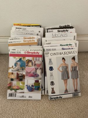 Sewing patterns. $5 for all for Sale in Peoria, IL