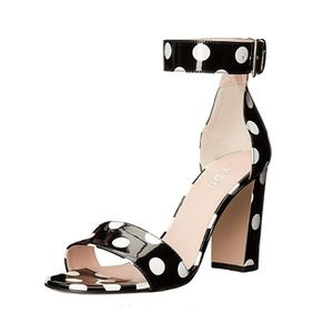 Size 9.5 YDN Polka Dot Chunky High Heel Sandals for Sale in Las Vegas, NV