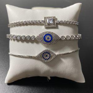 3 Cubic Zirconia Bracelets Evil Eye for Sale in Hialeah, FL
