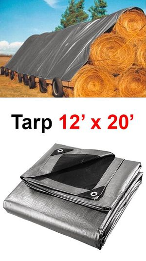 New in box $25 Heavy Duty 12'x20' 10mil Canopy Poly Tarp Reinforced Tent Car Boat Cover Tarpaulin for Sale in Whittier, CA
