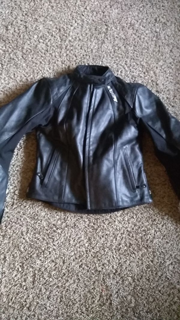 Shift women's leather biker jacket with padded elbows
