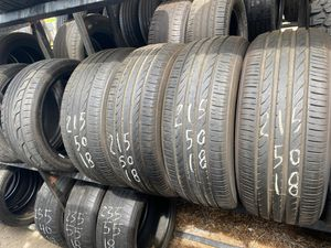 Set of 215 50 18 toyo used tires for Sale in Fontana, CA