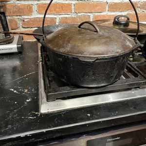 Large Lodge 8 Quart Cast Iron Dutch Oven with Handle and Lid for Sale in Suffolk, VA