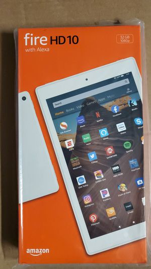 BRAND NEW Amazon fire HD 10 (9th) 32gb - Latest Generation white color tablet for Sale in Vancouver, WA